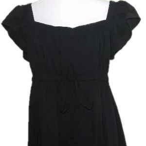 Maggy London Sz 14 peasant style dress in black